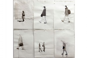 'figure---lato-Duomo--Milano'-acquarello-e-pastelli,90X80,-2011