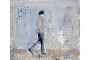 'ragazzo-piazza-Duomo-Milano'-olio-su-tela,-cm-28X24,-2010