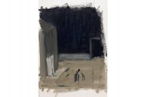 'strada-di-notte'-olio-su-carta-telata,-cm-12X26,2010
